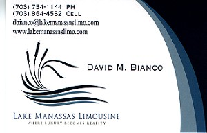 Limo Service Business Card