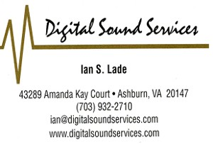 Digital Sound Services Business Card